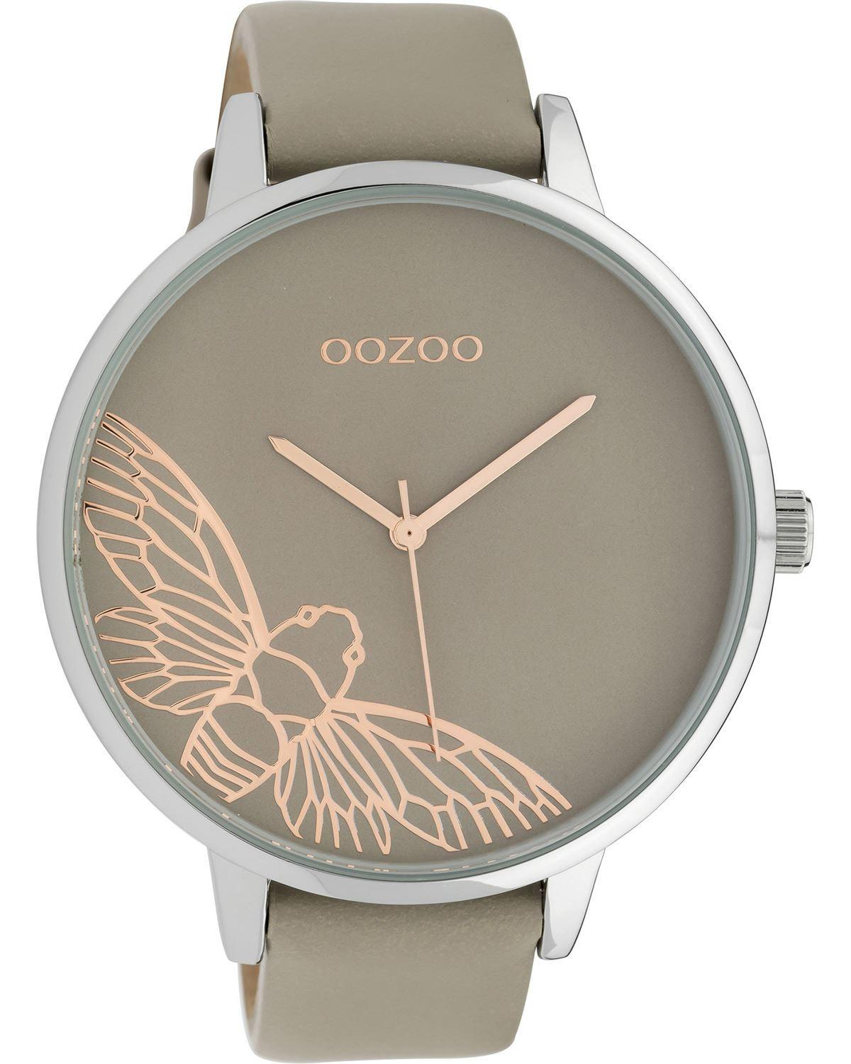OOZOO TIMEPIECES Ladies 48mm Taupe Leather Strap C10077